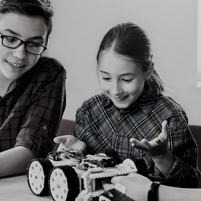 Children working on STEM activity