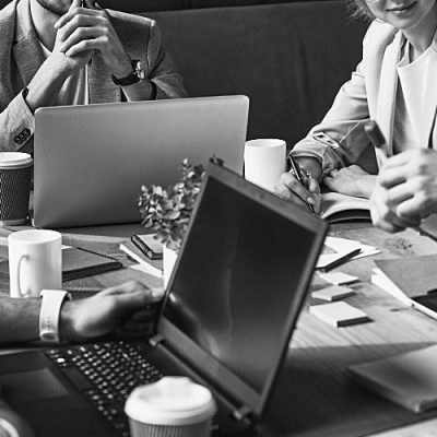 team of happy employees: employee retention