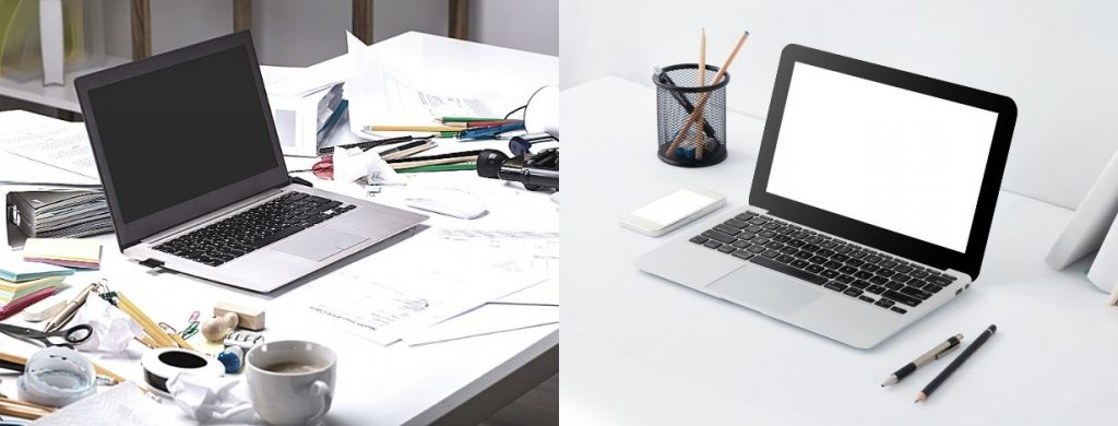 messy vs tidy desk